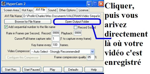 Tutoriel Vidéo - HyperCam T10_bm10