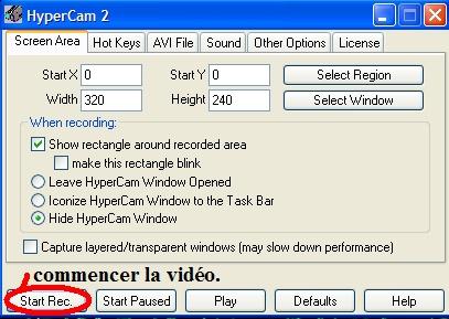 Tutoriel Vidéo - HyperCam T15_bm10