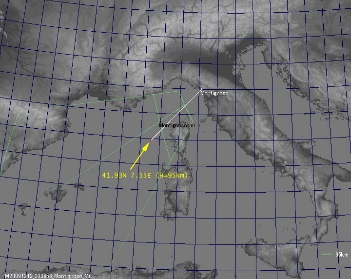 Gigantic jet captured by Italian Meteor and TLE Network Gmap9511