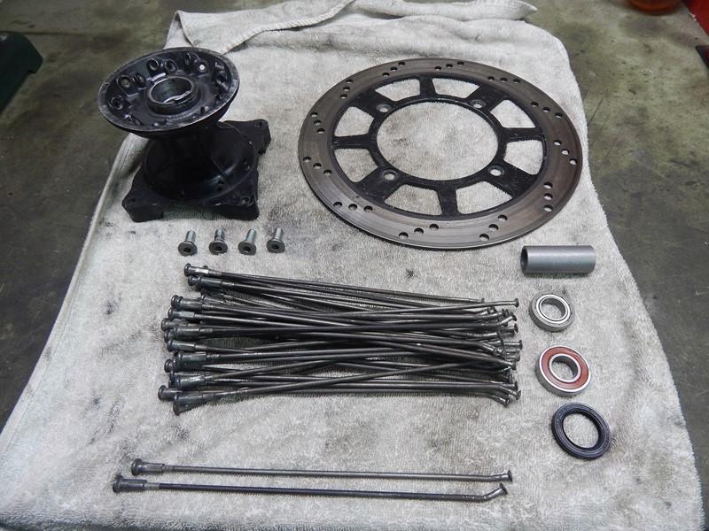 Kit roue avant 650 DR  Roueav10