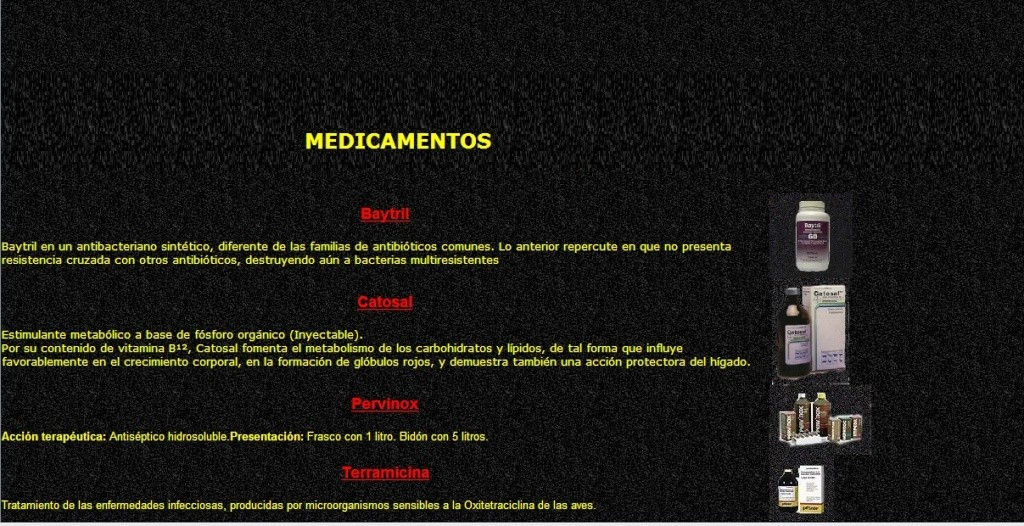MEDICAMENTOS Y CALENDARIO DE VACUNACION PARA POLLITOS Medica11