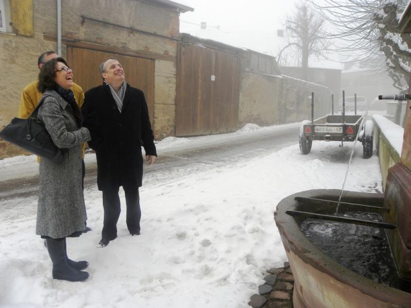 La sous-préfète en visite à Wangen le mercredi 13 janvier 2010 02_15514