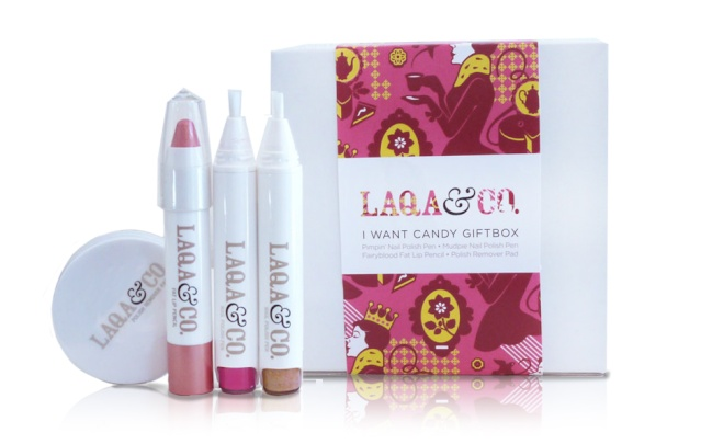 LAQA & Co Cosmetics Gift Box Giveaway ends 1/5/13 I-want10