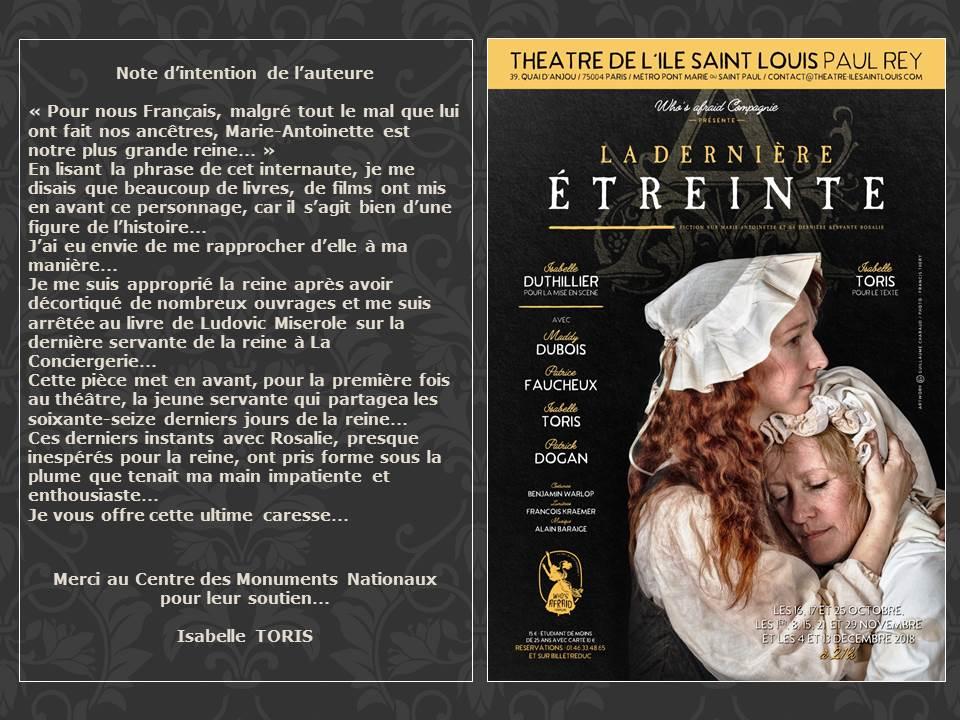 Théâtre : La dernière étreinte   Progra10