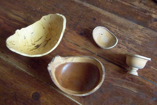 Vide poche en frêne avec écorce  100_6511