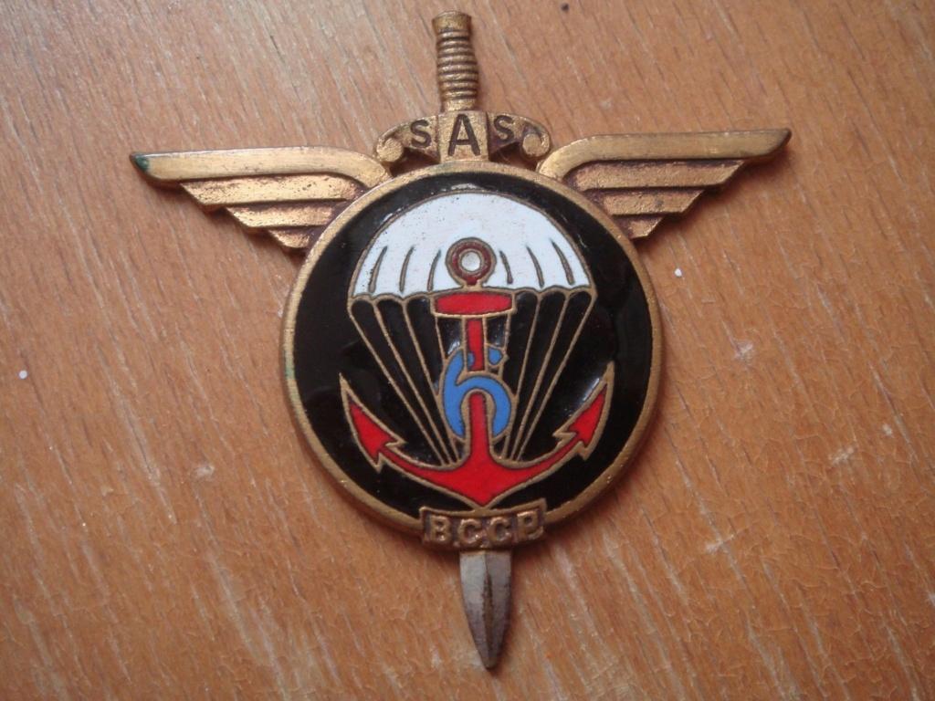 Insigne 6ème BCCP Parachutiste Indochine Drago Paris Nice 25 rue de Beranger 112