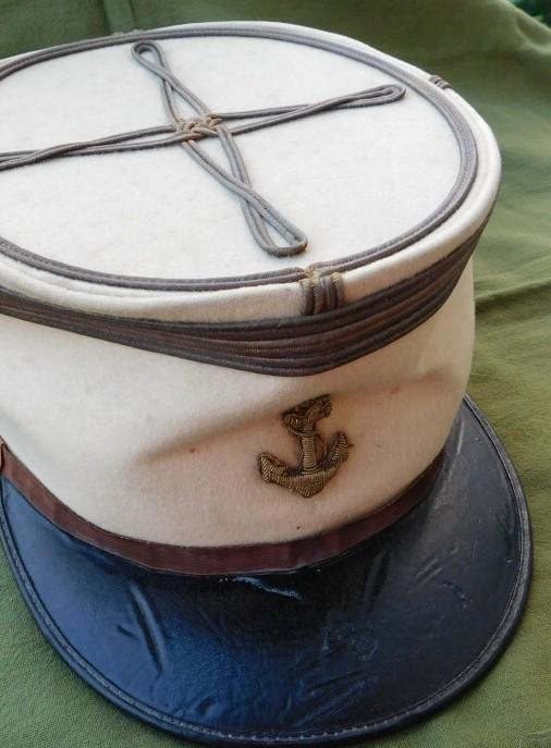 Képi de capitaine de la Coloniale...Méhariste 1920 Dscn6212