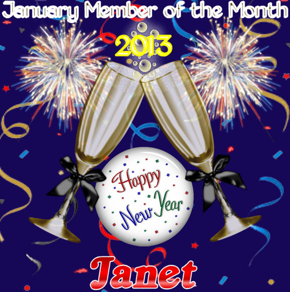 January member of the month is:  JANET Januar10