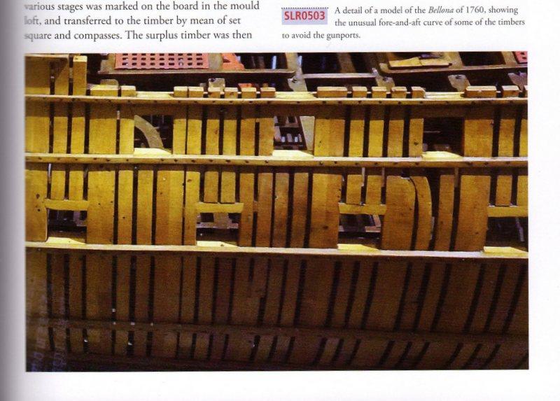 Etude de la charpente d'un vaisseau anglais de la fin du 18ème siècle 1-img216