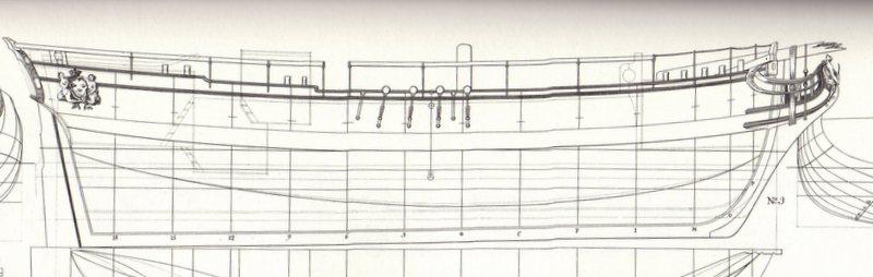 Planche d'une goëlette du XVIIIe sièccle du genre Colonial Schooner. Img95210