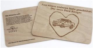 Ein aus Holz geschnitztes Mailing bohrte dicke Bretter Ford_r10