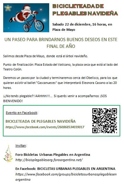 BICICLETEADA DE PLEGABLES NAVIDEÑA Bicicl10