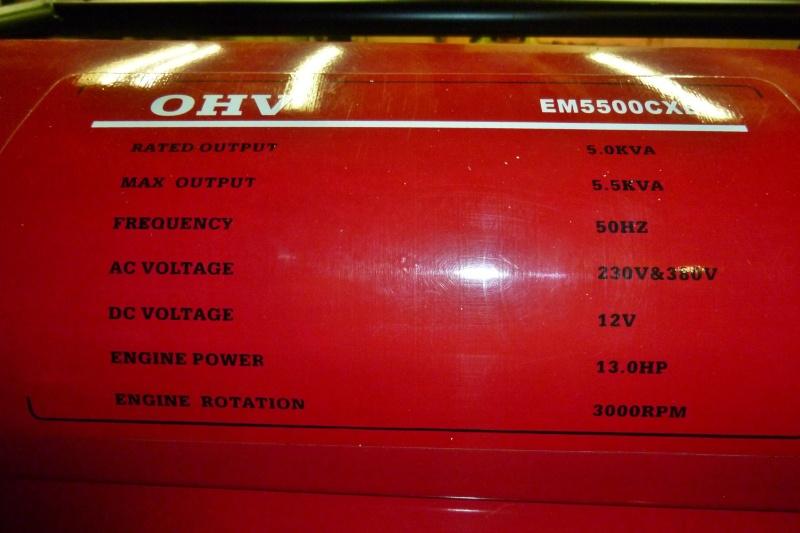 Protection contre les surcharges d'un groupe électrogène portatif Ge_5kv10