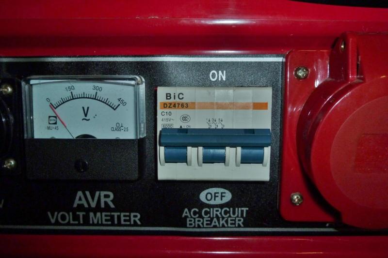 Protection contre les surcharges d'un groupe électrogène portatif Ge_5kv11