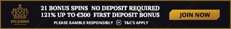 21 Casino 21 Bonus Spins No Deposit Bonus 121% Bonus 21casi10