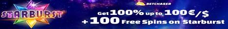 Betchaser Casino $/€10 No Deposit Bonus 100%/BTC Bonus +100 Spins Betcha11