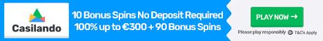 Casilando Casino 10 Casino Spins No Deposit Bonus 100% Bonus + 90 Spins Casila10