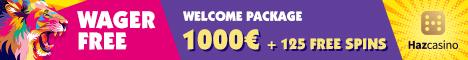 Haz Casino BTC/250% Welcome Bonus + 125 Free Spins Haz_ca10