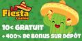 La Fiesta Casino  10€/$ Gratuits bonus sans dépôt