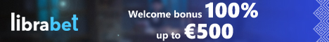LibraBet Casino and Mobile €500 Welcome Bonus + 200 Free Spins Librab10