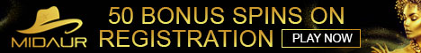 Midaur Casino 50 Free Spins No Deposit Bonus $/£/€1000 Bonus