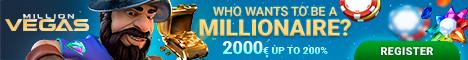 MillionVegas Casino 150%/BTC Welcome Bonus Microgaming NetEnt Millio10