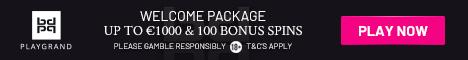 Playgrand Casino $/€1000 Bonus + 100 Extra Spins
