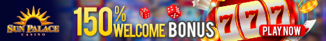 Sun Palace Casino and Mobile $25 No Deposit Bonus 150% Bonus Sun_pa10