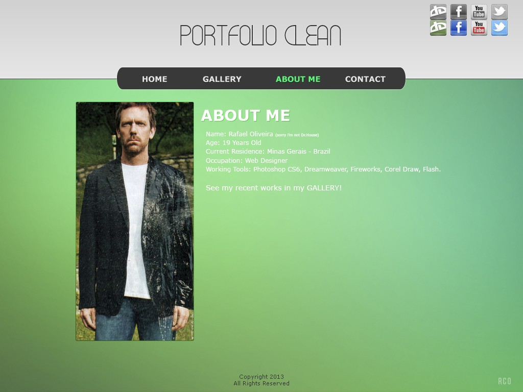 Template - Portfolio Clean Aboutm10