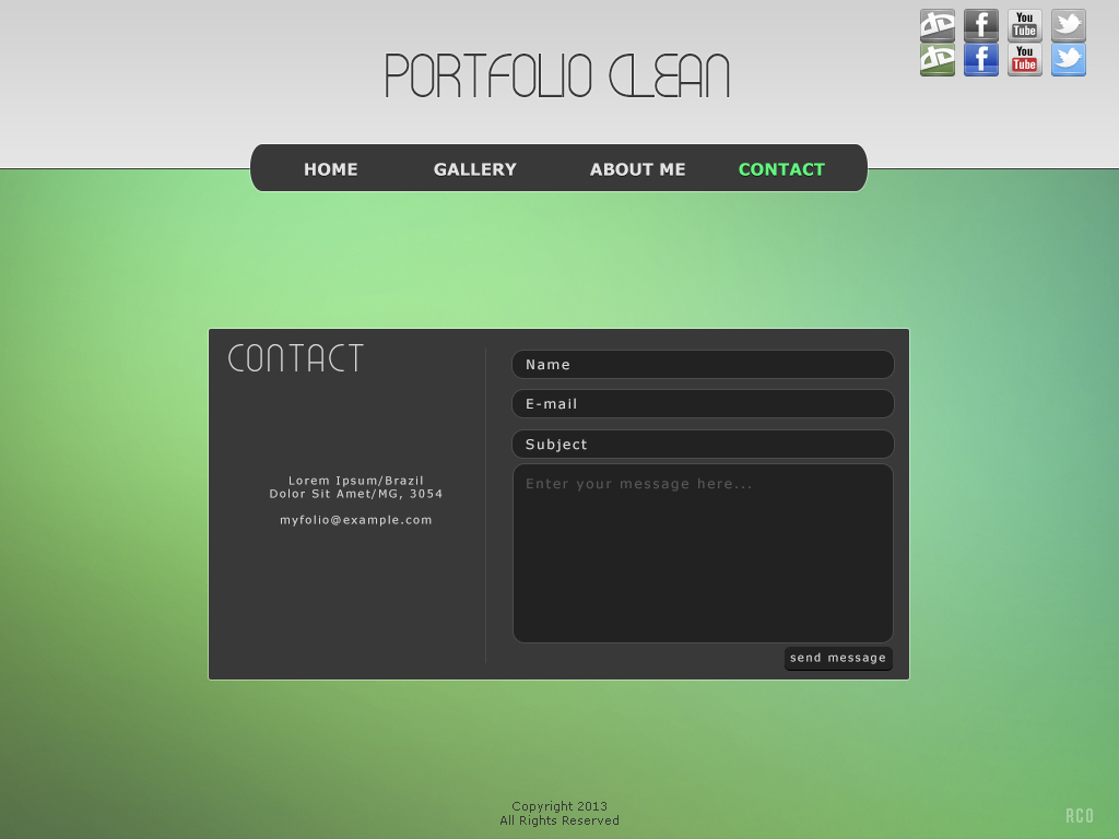 Template - Portfolio Clean Contac10
