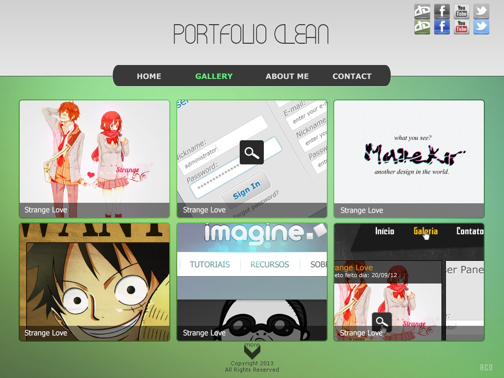Template - Portfolio Clean Galler10