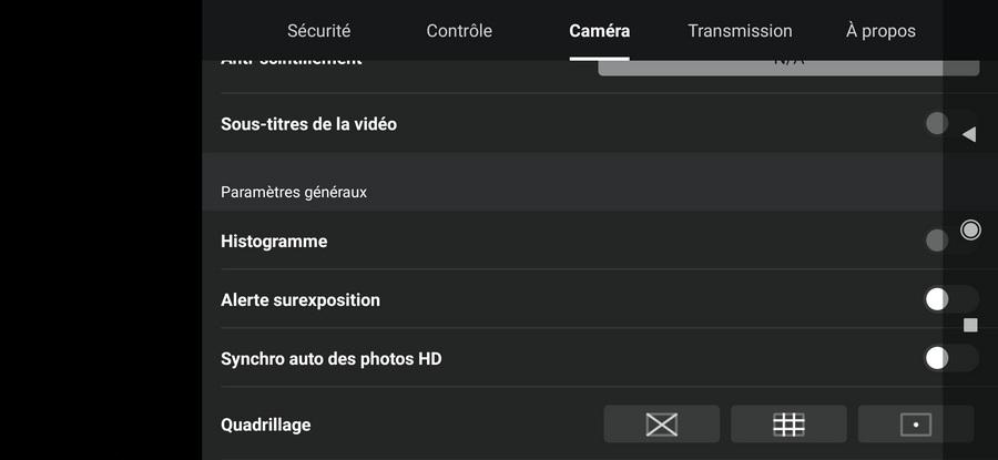 Stockage photos et videos Screen12