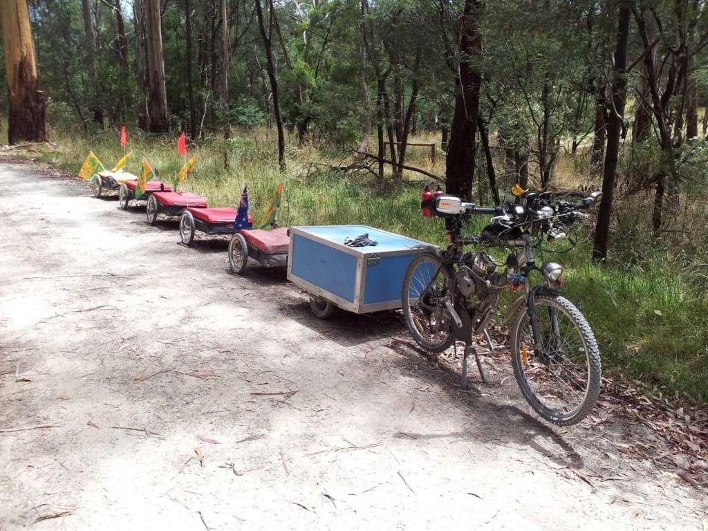 Multi Combination Bicycle Trailer Setup 2013-010