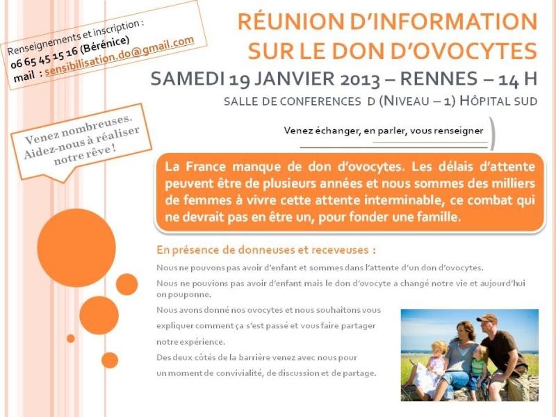 réunion d'information sur le don d'ovocyte à Rennes Affich11