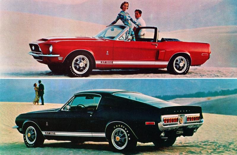 Quelque photo original de Shelby 1968 Carte_10
