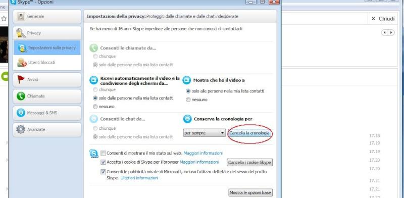 Come cancellare la cronologia di Skype Skype-13