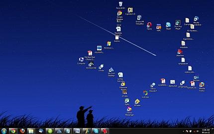 Organizzare in modo elegante le icone del proprio desktop - My Cool Desktop Slide110