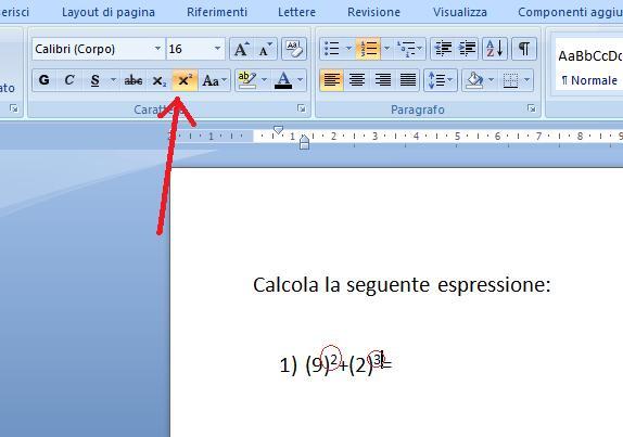 Come inserire l'apice e/o il pedice su Word 2007 Word-a10