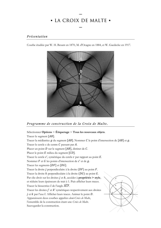 Activité Geogebra dès la sixième : Herbier de courbes mathématiques. - Page 5 Croix_11