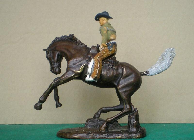 Cowboy zu Pferd mit Lasso - Umbau in der Figurengröße 7 cm 139e3a10