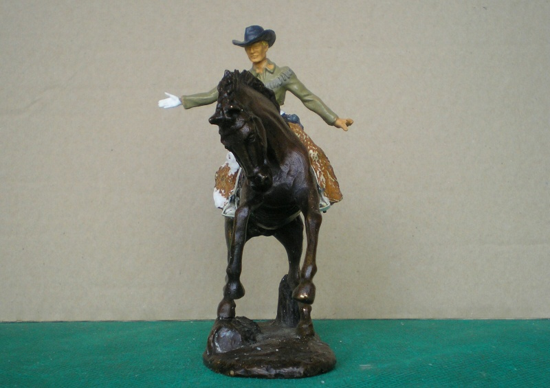 Cowboy zu Pferd mit Lasso - Umbau in der Figurengröße 7 cm 139e3b10