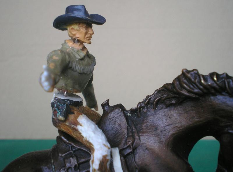 Cowboy zu Pferd mit Lasso - Umbau in der Figurengröße 7 cm 139g1_10