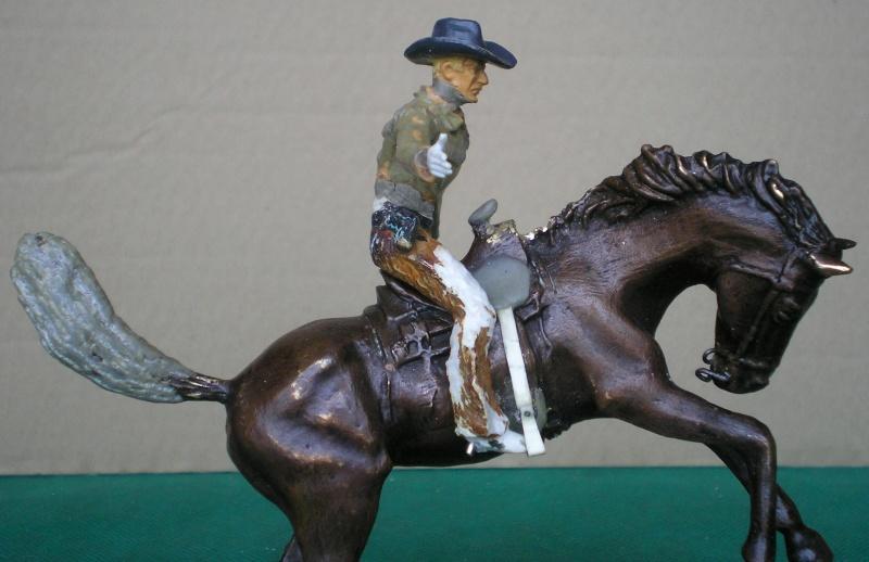 Cowboy zu Pferd mit Lasso - Umbau in der Figurengröße 7 cm 139g2a10