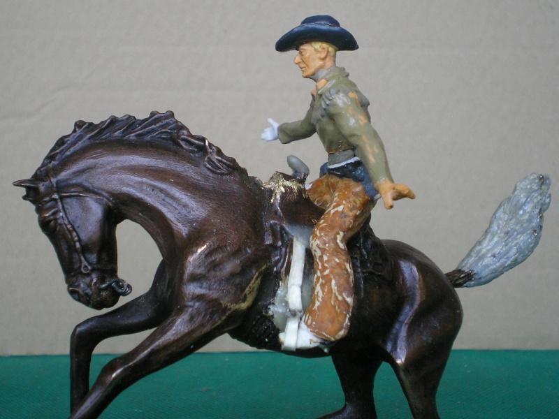 Cowboy zu Pferd mit Lasso - Umbau in der Figurengröße 7 cm 139g2b10