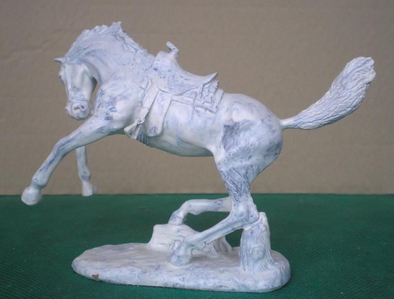 Cowboy zu Pferd mit Lasso - Umbau in der Figurengröße 7 cm 139h1a10