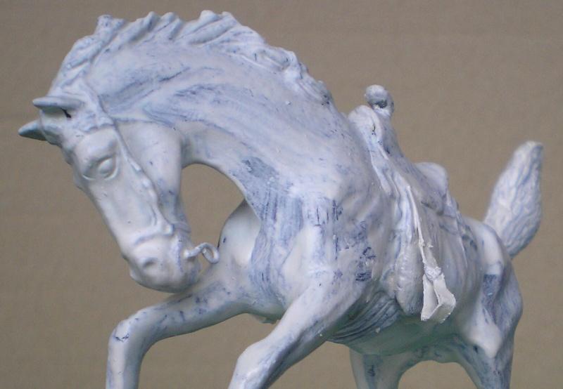 Cowboy zu Pferd mit Lasso - Umbau in der Figurengröße 7 cm 139h1b10