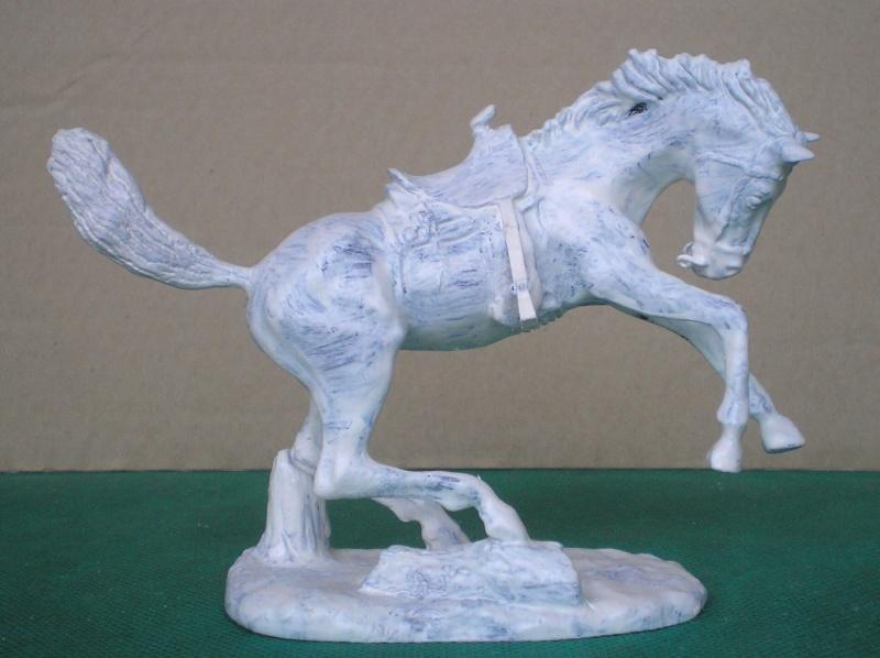Cowboy zu Pferd mit Lasso - Umbau in der Figurengröße 7 cm 139h1c10