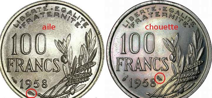 pièce de 100 francs cochet 1958 F450_010