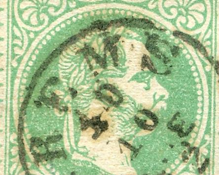 Nachtrag - Freimarken-Ausgabe 1867 : Kopfbildnis Kaiser Franz Joseph I 1867_g10