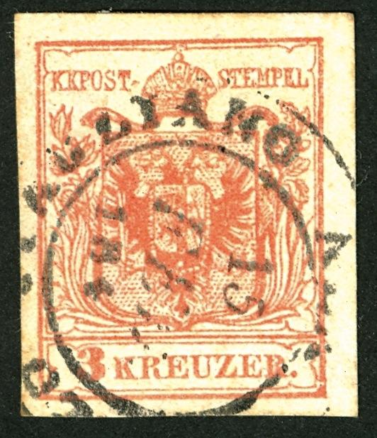 3 Kreuzer Type IIIb Maschinenpapier 1854 Stempel : welcher Ort ? 3_kr_t10